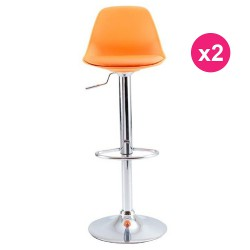 Set of 2 Orange KosyForm Bar stools