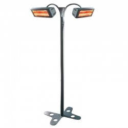 Heating Electric on foot 3000 W HELIOSA iron forged IPX5 waterproof for inside and outside