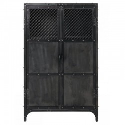 Furniture high Metal Black 2 doors and 3 Niches Faly KosyForm
