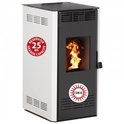 14Kw Etanche Interstoves Pellet Stove with Marina Blanc Remote Control